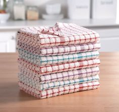 Pack of 12 Terry Tea Towels Cotton Set Kitchen Dish Cloths Cleaning Hanger Clips, Towel Hanger, Cotton Towels, Tea Towels, Duvet, Packing Clothes, Embroidered Gifts, Kitchen Hand Towels, Restaurant Kitchen
