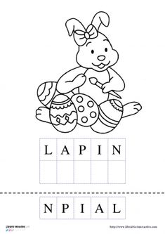 Learning French For Kids, Teaching French, Home Activities, Easter Activities, French Alphabet, Autism Education, French Education, Kindergarten Lessons, Classroom Posters