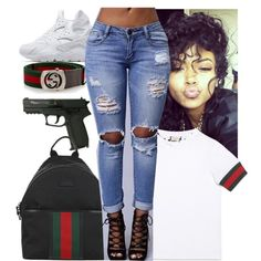 A fashion look from July 2016 featuring Gucci t-shirts. Browse and shop related looks.