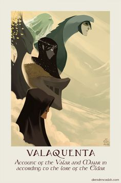"""Silmarillion Project Part 2: """"Valaquenta   - Account of the Valar and Maiar in according to the lore of the Eldar"""" by Aaron Diaz"""