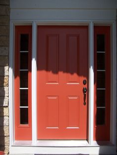 Orange Front Door, paint the sides as well