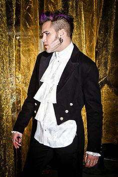 Victorian Tailcoat by Shrine Clothing Goth Steampunk Mens Jackets