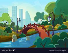 Boat Vector, Vector Free, Morning Cartoon, New City, Park City, Cartoon Wallpaper, Adobe Illustrator, Holiday Cards, Sunrise