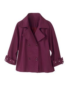 Signature Stretch Sateen: Double-Breasted Jacket
