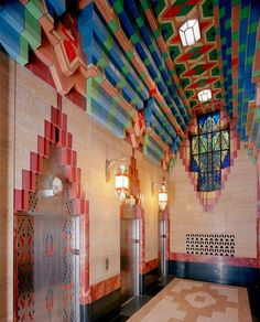 Guardian Building, Detroit, MI, with tiles made by Mary Chase Stratton of Pewabic Pottery