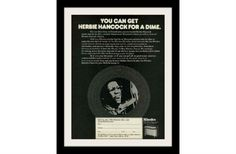 "1974 Rhodes Music Electric Piano Ad ""Herbie Hancock"" Vintage Advertisement Print"