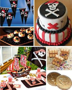 Goûter d'anniversaire sur le thème pirate