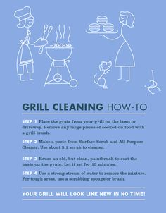 How - To: Grill Cleaning from @Mrs. Meyer's Clean Day