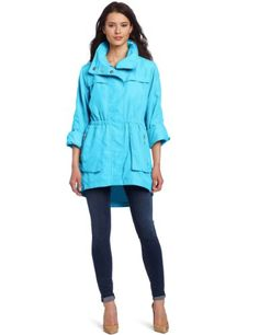 Just ordered this. LOVE the color. Amazon.com: G.E.T. Women's Anorak Jacket, Hot Turquoise, Small: Clothing