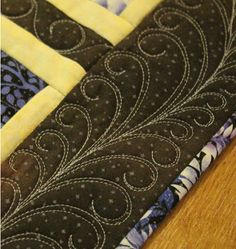 Practice makes perfect feathers - Quilting