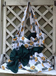 Packers Fabric Purse  Rhinestones pretty by kristinaprattdesigns, $35.00