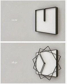 Dit ontwerp is van Nazar Sigaher. Hij ontwerpt een klok waarbij elke beweging van de wijzer de vorm veranderd van de klok. Zeer origineel trekt zeker je aandacht! Wel een nadeel misschien, je kan het uur niet exact aflezen.