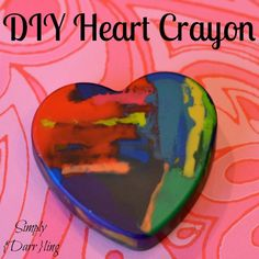 DIY Heart Crayons – Perfect Kids Craft for Valentine's Day! Valentine's Day Crafts For Kids, Diy Arts And Crafts, Crafts To Make, Kids Diy, Baby Crafts, Toddler Crafts, Kid Crafts, Preschool Crafts, Diy Gifts Valentine's Day