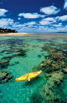 Great Barrier Reef; Australia. É magnífica. A cidade de Cairns tem um clima e temperatura semelhantes ao nordeste brasileiro.