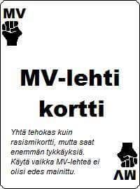MV-lehti kortti