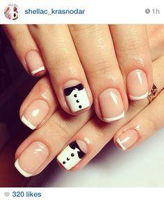 Tuxedo french nails