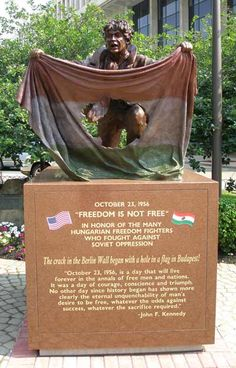 The tribute to the Freedom Fighter of the 1956 Hungarian Revolution is in Cardinal Mindszenty Plaza in downtown Cleveland. The Crack in the Berlin Wall began with a hole in a flag in Budapest! Berlin Wall, Freedom Fighters, Free In, Central Europe, My Heritage, World History, Oppression, Great Places, Culture