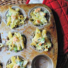 Mini Pasta, Shrimp and Broccoli Casseroles | 9 Mini Muffin Tin Recipes