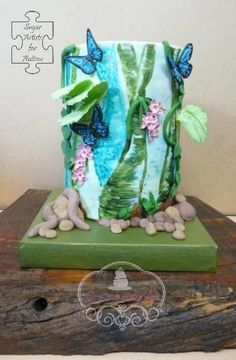 #Sugar Art for Autism collaboration. Rainforest Walk. by Sue's Sweet Delights