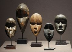 Africa | Dan people, Ivory Coast |  Miniature Passport Masks