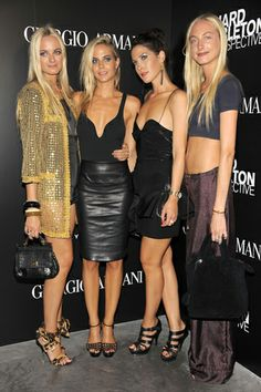 The Courtin-Clarins Sisters...rock-star Fashion Socialites.