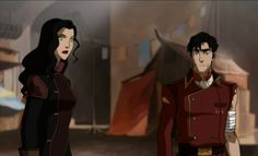 Legend of Korra- Asami Sato with General Iroh II ♥ Irosami! Iroh Ii, Asami Sato, Korra Avatar, Korrasami, Fire Nation, Legend Of Korra, Avatar The Last Airbender, My Heart Is Breaking, Anime Couples