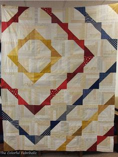 The Colorful Fabriholic: LCTs for QOV - a fun variation on the log cabin quilt! Patchwork Quilt Patterns, Quilt Block Patterns, Quilt Blocks, Quilting Tutorials, Quilting Projects, Quilting Designs, Quilting Ideas, Charm Square Quilt, Half Square Triangle Quilts