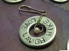 Craft Tutorial: Stamped Metal Washers (for necklaces, earrings, backpack tags, etc)