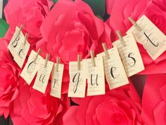 """Be Our Guest book page banner from a """"Be Our Guest"""" Beauty and the Beast Party on Kara's Party Ideas   KarasPartyIdeas.com (3)"""