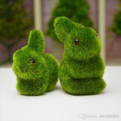 искусственного моделирования мох, животное, кролик букетов реквизит для обустройства дома ювелирные изделия