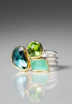 Margoni Tourmaline & Peridot Ring
