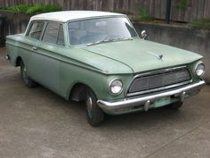 62 Rambler; my 1st car!  Mine was pink...not sure this is a 62 tho... 2 door Classic.