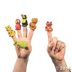 12 Rain Forest Zoo Jungle Finger Puppets Kids Birthday Party Favors Toys Gifts #FunExpress #Birthday