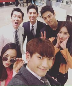Singer and actor 'Rain' took a selfie with the 'Please Come Back, Mister' team. 'Rain' posted this picture on his Instagram.