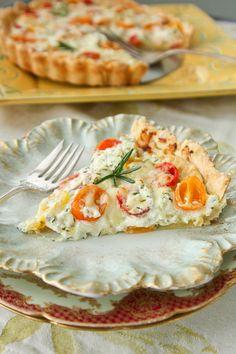 Herbed Heirloom Tomato Tart   ShesCookin.com #spring #brunch #recipe