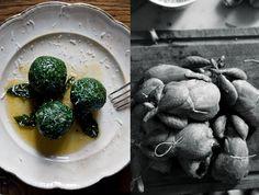 Spinach gorgonzola balls.
