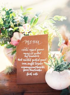 #wedding calligraphy menu | Loft Photographie