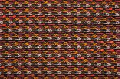 Tissu Chanel brun, orange et jaune