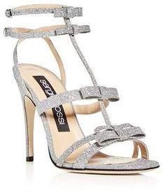 ef3c7e6b4f2b Sergio Rossi Women s Glitter Bow High-Heel Sandals