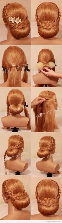 Evening feminine sophisticated updo, hairstyle. ☂. ✿  ✿ ✿