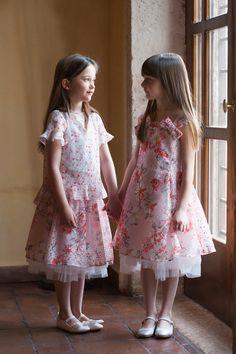 Simonetta spring summer 2018 formal wear selection in pink Foto: Ariana Currò #simonetta #kidsfashion #childrenwear #kidswear #springsummer2018 #SS18