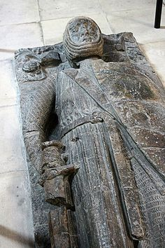 William Marshal, 1st Earl of Pembroke. Served King Henry II, Queen Eleanor of Aqutaine, tutor of Henry, the Young King. As a rival, the only man to best Richard the Lionhearted, then turned ally. Supported John, saved London from the French and expelled them as Regent, under the boy King Henry III. Effigy at Temple church, London. by F.S. Lewis