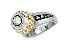 Gold Flower Bead Ring