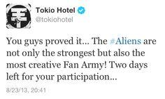 Vocês provaram isso... Os#Aliens  não são só os mais fortes, mas também os fãs mais criativos! Dois dias para a sua participação...