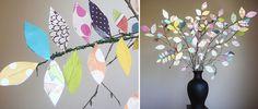 Use Your Scraps: Scrapbook Paper Tree Centerpiece