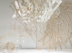 Ai WeiWei Bamboo and Paper sculptures in Paris