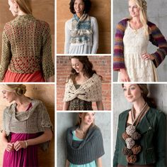 Rustic Modern Crochet -- I like the sweater at the upper left