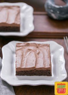 Glorious, fudgy frosted cocoa brownies #SundaySupper #TheCookieJar