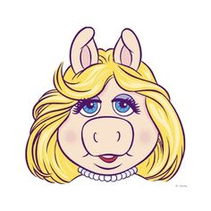 The Muppets Miss Piggy Face Disney