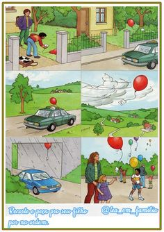 write the story of a balloon, where did it go, what did it see, who did it meet? (Not original post) Sequencing Cards, Sequencing Activities, Language Activities, Writing Activities, Picture Story Writing, Writing Pictures, Picture Writing Prompts, Speech Language Therapy, Speech And Language